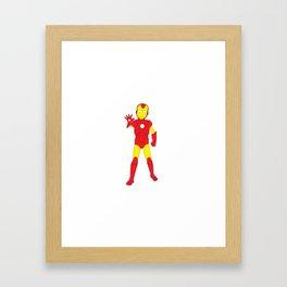 Little Iron Man Framed Art Print