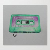 cassette Canvas Prints featuring Cassette by TrishRay