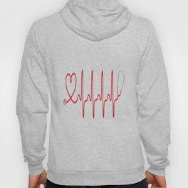 Ekg Heart Stethoscope Hoody