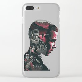 Stranger Thing 11 Clear iPhone Case