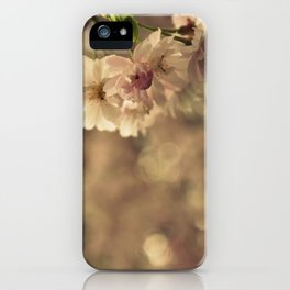 Cherry Blossom Bokeh iPhone Case