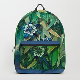 """Spring Forest of Surreal Leaf litter and flowers"" Backpack"