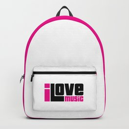 I Love Music Quote Backpack