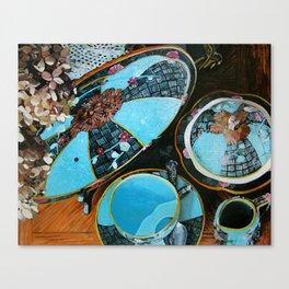 Majolica and Hydrangea Canvas Print