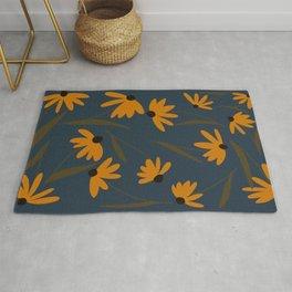 Autumn Floral Pattern Rug