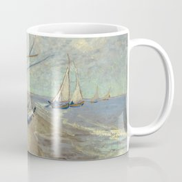 Fishing boats on the beach by Vincent Van Gogh Coffee Mug