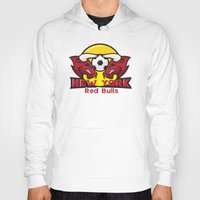 chicago bulls Hoodies featuring Red Bulls by Mountain Top Designs