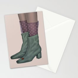 Boots and ladybug Stationery Cards
