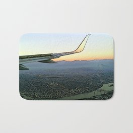 Landing together with the sun Bath Mat