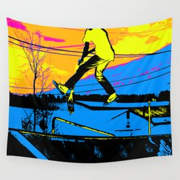 """Air Walking""  - Stunt Scooter Wall Tapestry"