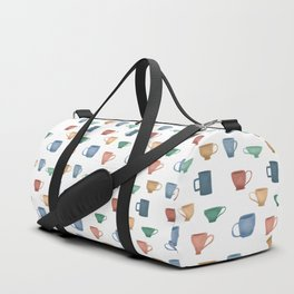 Colorful Tea Cups and Coffee Mugs Duffle Bag