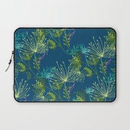 Botanical with Henna Border Navy Laptop Sleeve