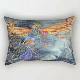 The Phoenix Rising From the Ashes Rectangular Pillow