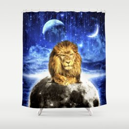 Grumpy Lion Shower Curtain