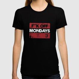 F**k Off Mondays! Red Grunge T-shirt