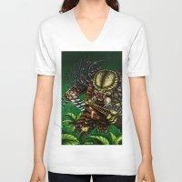 predator V-neck T-shirts featuring PREDATOR  by Bungle