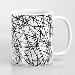 Black line doodle single line Coffee Mug