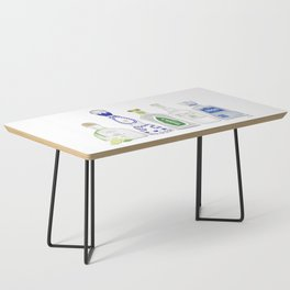 Tequila Bottles Illustration Coffee Table