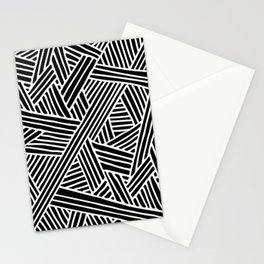 Abstract black & white Lines and Triangles Pattern - Mix and Match with Simplicity of Life Stationery Cards