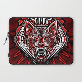 Wolf Tattoo Style Haida Art Laptop Sleeve