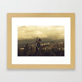 Pensive Boba Framed Art Print