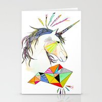 unicorn Stationery Cards featuring Unicorn by Belén Segarra
