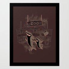 shark zoo Art Print