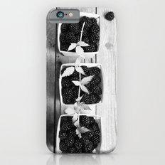 Black and White Blackberries iPhone 6s Slim Case