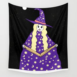 Halloween Witch Wall Tapestry