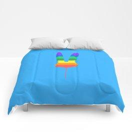 Rainbow Bunny Balloon Comforters