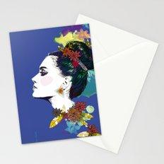 Blue Bun  Stationery Cards