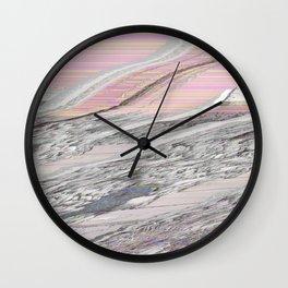 Butter & Candy Glitch Wall Clock