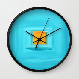 Blue lagoon 2 Wall Clock