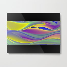 Abstract Rainbowart in retrostyle 10 Metal Print