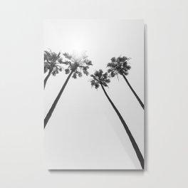 Palm Trees in the sun | monochrome Metal Print