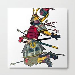 King James China Dunk Warrior Metal Print