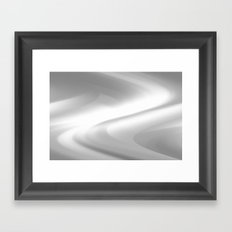 DREAM PATH (Greys & White) Framed Art Print