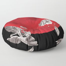Revived Hummingbird Floor Pillow