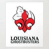 Louisiana Ghostbusters Art Print