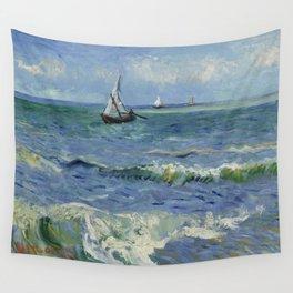 Seascape near Les Saintes-Maries-de-la-Mer Wall Tapestry