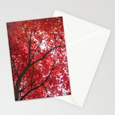 blazing red Stationery Cards