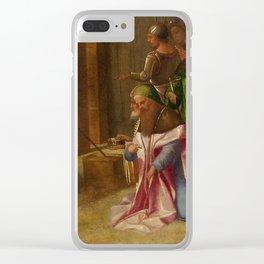 "Giorgione (Giorgio Barbarelli da Castelfranco) ""The Adoration of the Kings"" Clear iPhone Case"