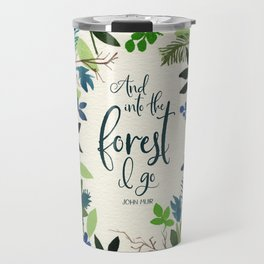 Into the Forest Watercolor Travel Mug