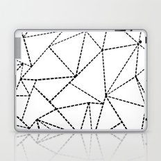 Abstract Dotted Lines Black and White Laptop & iPad Skin