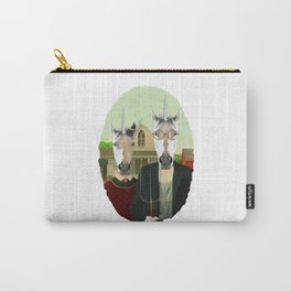 American Gothic Unicorn Carry-All Pouch