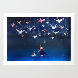 Origami Dream Art Print