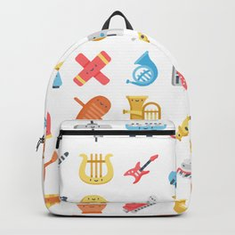 CUTE MUSICAL INSTRUMENTS PATTERN Backpack