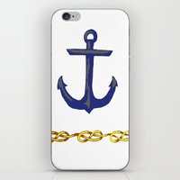 nautical iPhone & iPod Skins featuring Nautical by DesignSam