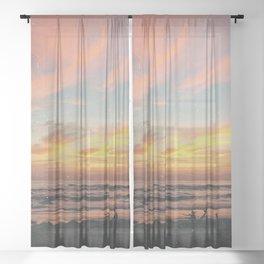 Van Life Sheer Curtain