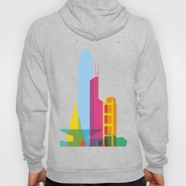 Shapes of Hong Kong. Accurate to scale Hoody